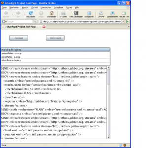 agsXMPP Silverlight example