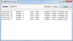 Screenshot - SRV Record Tester